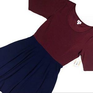 Dress LuLaRoe Nicole Flattering A-Line NWT